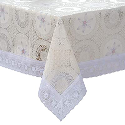 Amazon - Save 50%: DITAO Waterproof Lace Tablecloth Vinyl Heavy Spill Proof Easy Care Table Cov…