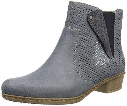 Rieker Damen Y0757-12 Chelsea Boots, Blau (Adria/Adria/Jeans 12), 42 EU