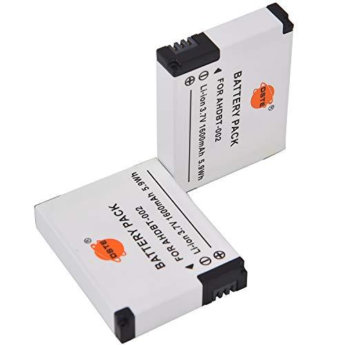 DSTE AHDBT-002 - Batería de repuesto para cámara digital GoPro Hero GoPro HERO2 (2 unidades)