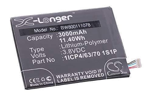 vhbw Li-Ion batería 3000mAh (3.8V) para teléfono móvil Smartphone Vodafone Smart Ultra...