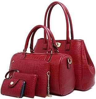 Fashion Multi purpose five pieces Set shoulder bag handle female shandbag Totes Satchel Bag MY2 red