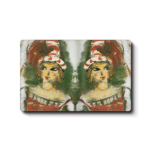 カードケース 名刺入れ 絵画 佐伯祐三 人形 メンズ 可愛い 名画 絵画 小銭入れ ケース かわいい メンズ プレゼント 便利グッズ ミニ財布