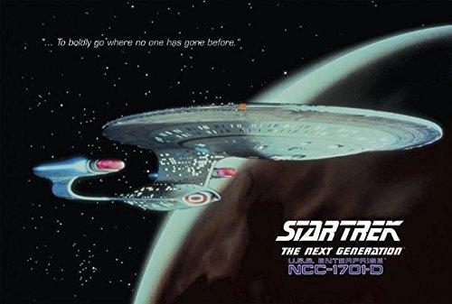 Close Up Poster Star Trek The Next Generation - USS Enterprise (1701-D) (101,6cm x 68,5cm)