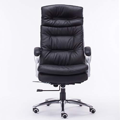 Lederen computerstoel bureaustoel lederen stoel werkkamer massagestoel woonkamer lift stoel zwart computerstoel boss stoel (100% zuivere rundstoel)