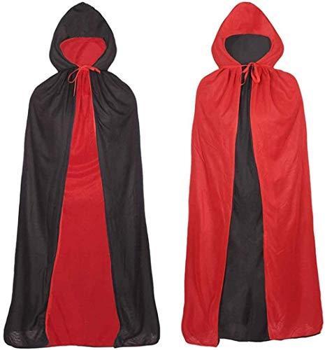 Ecloud Shop Halloween Vampir Umhang mit Hut, Cosplay Kostüm Cape Hut Magischer Umhang für Männer und Frauen Drama Stage Requisiten