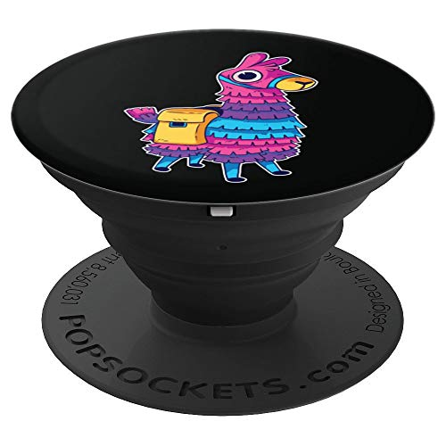 Funny Loot Llama Pinata With Yellow Saddlebag Artwork - PopSockets Grip and Stand for Phones and Tablets