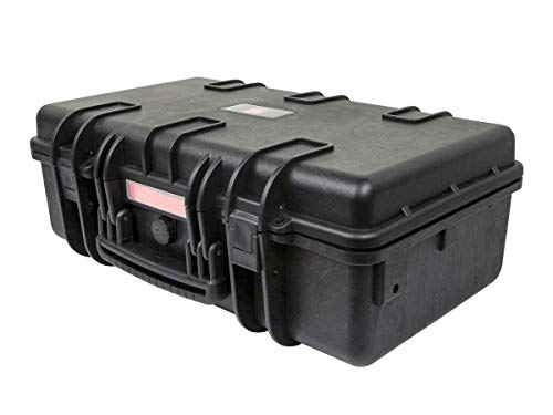 Monoprice Weatherproof/Shockproof Hard Case - Black IP67 Level dust and Water Protection up to 1 Meter Depth with Customizable Foam, 22' x 14' x 8'