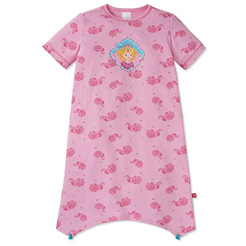 Schiesser - Mädchen Kinder Nachthemd kurzärmelig Schlafshirt, rosa Lillifee - 165787, Größe 104