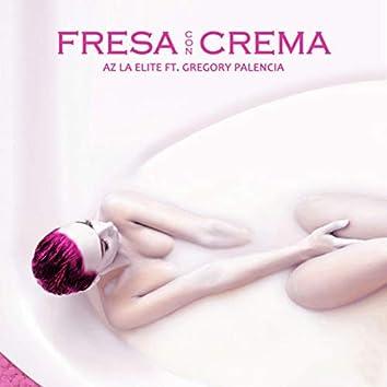 Fresa con crema
