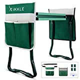 Garden Kneeler and Seat with 2 Bonus Tool Pouches - Adjustable Belt Tool Pounch - Portable Garden Bench EVA Foam Pad with Kneeling Pad - Sturdy, Lightweight and Practical - Protect Knees and Clothes