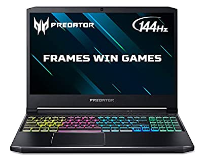 Acer Predator Helios 300 PH315-53 15.6 inch Gaming Laptop (Intel Core i7-10750H, 16GB RAM, 256GB SSD and 1TB HDD, NVIDIA RTX 2060, Full HD 144Hz Display, Windows 10, Black) by Acer