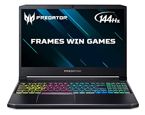 Acer Predator Helios 300 PH315-53 15.6 inch Gaming Laptop (Intel Core i7-10750H, 16GB RAM, 256GB SSD and 1TB HDD, NVIDIA RTX 2060, Full HD 144Hz Display, Windows 10, Black)