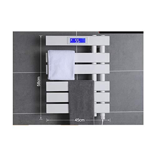 MTX-Racks Wandmontage, elektrisch verwarmde handdoekhouder, wasrek, intelligente temperatuurregeling badkamer wandbehang wand, badkamerrek, verwarming radiator voor badkamer, toilet en keuken plank