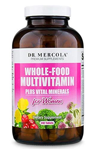 Dr. Mercola Integral Alimentación Multivitaminas para Mujer - 240 Pastillas, 30 Días Tratamiento - Suplemento Dietético Contiene More Folato & Colina para una Saludable Célula Crecimiento