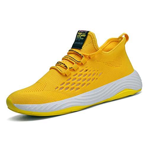 N-B Sneakers Leggere Tennis Sport Scarpe Casual da Uomo di Grandi Dimensioni Scarpe comode da Passeggio Traspiranti con Lacci