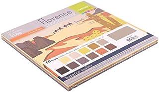 Vaessen Creative Florence Papier Cartonné, Couleurs Bruns, 216g, 30,5 x 30,5 cm, 12x5 Feuilles, Surface Lisse, pour Peindr...
