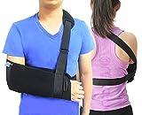 TODDOBRA Medical Arm Shoulder Sling for Shoulder Injury with Back Belt Men & Women Shoulder Immobilizer Stabilizer, Lightweigh Arm Support Brace for Broken Fractured Arm --(Size L)
