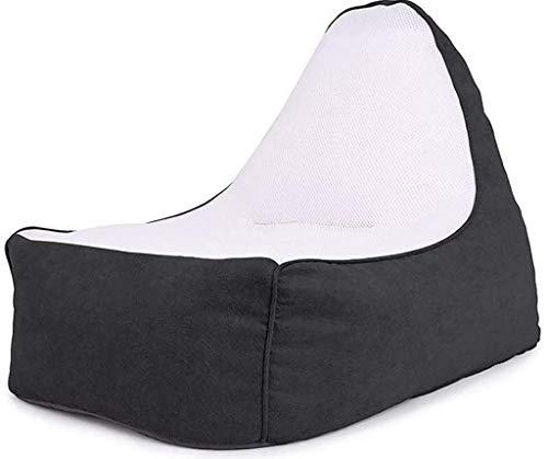 yxx Sitzsack Gefüllter Tierspeicher-Bag-Bagstuhl for Kinder und Erwachsene.Premium-Segeltuchsitz - nur 70x100x80cm (Color : Black)