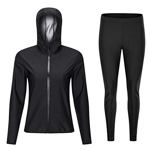 Xingsiyue 男性用スウェットスーツサウナスーツ、減量ジャケットスウェットパンツジムワークアウトスポーツウェア