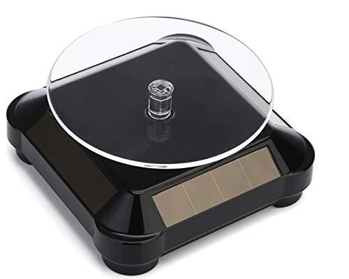 uniwin ターンテーブル ABS製 小型 ソーラー/バッテリー両用可 ブラック ZST-BK ディスプレイ用アクセサリ
