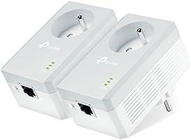 TP-Link CPL 600 Mbps avec Prise Intégrée et Ports Ethernet, Prise CPL Kit de 2, Compatible avec tous les Anciens Modèles...