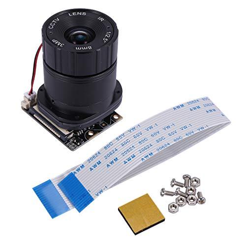 KAPAYONO Camera / 5MP 8mm Focal Length Night Vision NoIR Camera Board with IR-CUT for Raspberry Pi 3 Model B/2B/B+/Zero (W)
