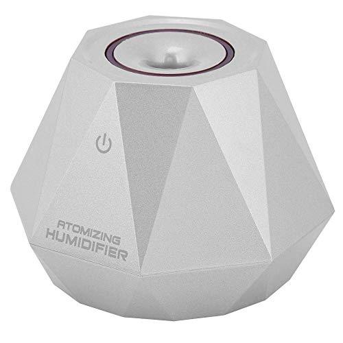 Rockyin Forma 180ml Mini Diamond humidificador de Aire Inicio Alquiler Oficina difusor de Aroma (Plata)