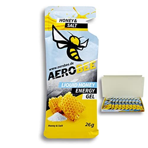 AEROBEE Energy Gel | Honey & Salt Liquid | 10 Pack x 26 g | 100% Natürliche Energie aus Honig für Ausdauersport | Schnelle und Dauerhafte Energie | Sehr Bekömmlich