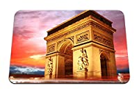 22cmx18cm マウスパッド (凱旋門パリフランス夕方の空) パターンカスタムの マウスパッド
