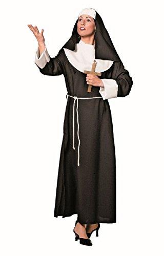Damen Kostüm Nonnen Nonnenkostüm Karneval Fasching Gr.48