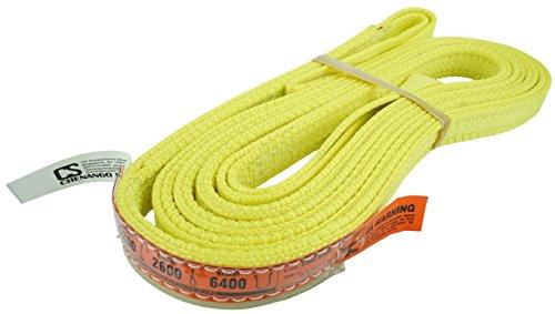 DD Sling (USA Made). Multiple Sizes in Listing! 1' x 12', 2 Ply Twisted Eye, Nylon Lifting Slings, Eye & Eye, Heavy Duty, 3,200 lbs Vertical, 2,600 Choker, 6,400 Basket Load Capacity (1' x 12')