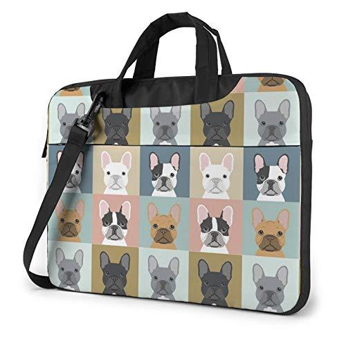 HOODSWOP French Bulldog Dog Cute Laptop Sleeve 13 inch-15.6 inch Stylish Cute Neoprene Notebook Handbag