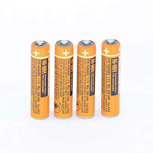4PCS NI-MH AAA Rechargeable Battery for Panasonic HHR-55AAABU 1.2V Replacement Battery