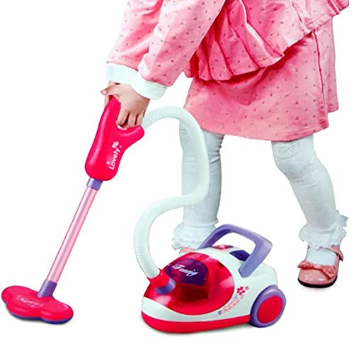 1pc niños Aspirador juguete pequeño ayudante Juego de imaginación juguete de los niños de limpieza Juego de Juego de aspiradora de succión con el Real limpieza de juguetes educativos para niños de