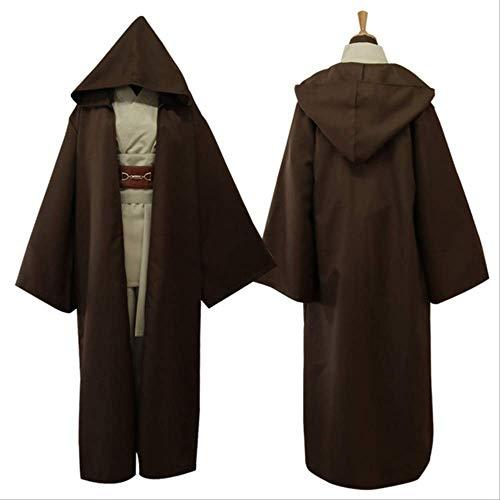 Star Wars Dark Jedi Rache der Sith Anakin Skywalker Cosplay Kostüm Männer Jedi Ritter Kostüm Männlich Kostüm Rob XL braun