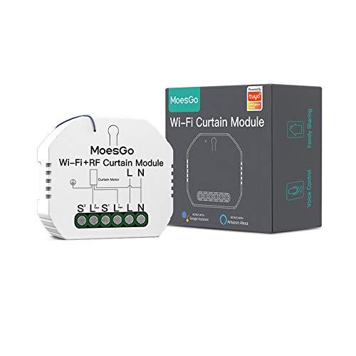 MoesGo | módulo de interruptores para persianas y cortinas con motor eléctrico | WiFi + RF433 | Compatible Alexa