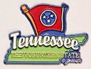 Tennessee State Map-Magnete per frigorifero, da collezione, motivo: bandiera inglese