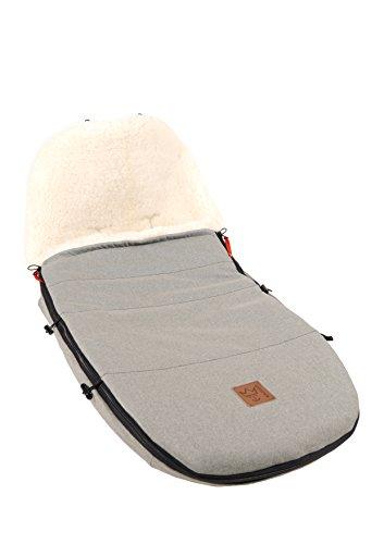 Kaiser voetenzak voor de kinderwagen geschikt voor bugaboo en joolz grijs