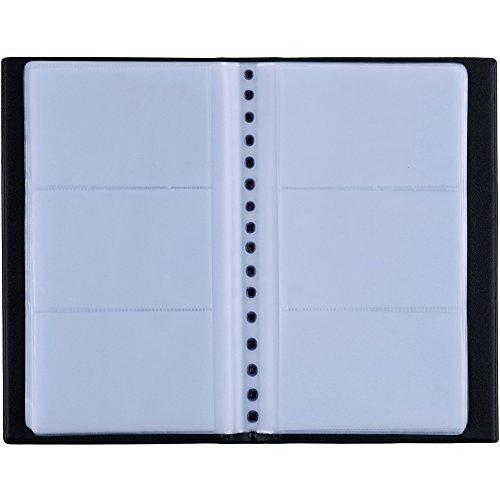 Zacro 150 Porte Cartes de Visite Carte de Livre PVC Cartes pour Ranger Carte de Visite Cartes Fidélité Porte Carte de Crédit etc (Noir)
