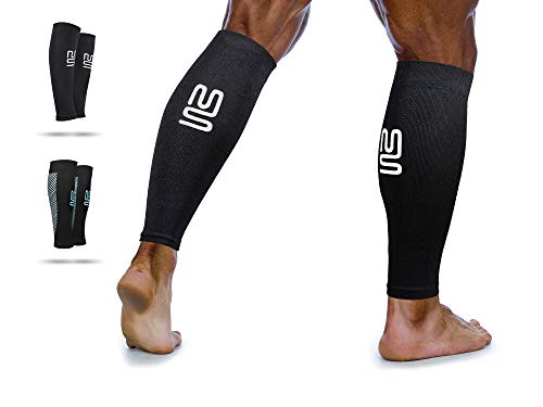Calf Leg Compression Sleeves by Modetro Sports -Shin Splints, Circulation & Leg Cramp Compression Support...