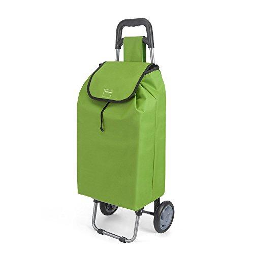 Metaltex Daphne Einkaufstrolley, mit 2Rädern, Metall, 120x60x6cm 120x60x6 cm grün