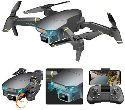 WASHULI Drone Giocattolo WiFi, Aerial Pieghevole Pieghevole Telecomando Aeromobile Lungo Campo di Controllo Auto Ritorno Auto Home 4K HD. Video