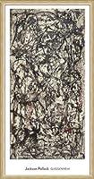 ポスター ジャクソン ポロック Enchanted Forest 1947 額装品 ウッドベーシックフレーム(ナチュラル)