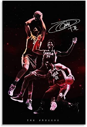 Kit De Pintura De Diamantes 5d Joel Embiid Superestrella del baloncesto de Filadelfia Diy Diamond Painting Bordado Punto Cruz Manualidades Para 19.7'x27.6'(50x70cm) Sin Marco