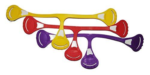 3er-Set Snappi Windelklammern für Stoffwindeln, farbig sortiert – gelb rot lila