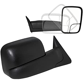 Spec-D Tuning Manual Flip Up Towing Mirrors for 1994-2001 Dodge Ram 1500 1994-2002 2500 3500 Left + Right Pair