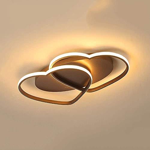 FXLYMR Lámpara de Pared Lámpara de Noche Europea Creativa Doble en Forma de Corazón Araña, Lámpara de Techo Led, Sala de Bodas Cálida Creativa, Dormitorio, Sala de Estudio, Lámpara de Luz Blanca Deco