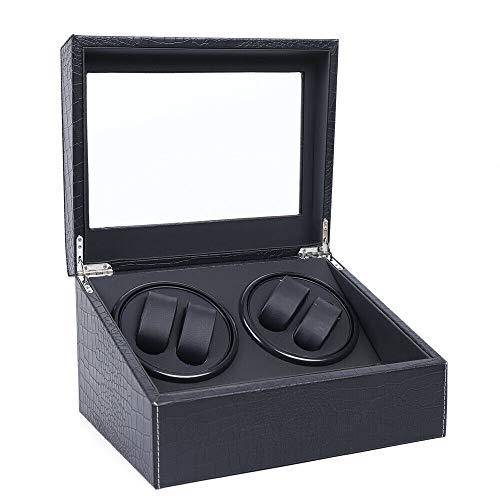 Caja automática para Reloj con 4 Posiciones de bobinado y 6 Espacios de Almacenamiento para Relojes para Hombres y Mujeres