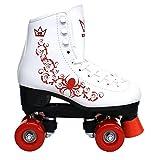 Kingdom GB Patines de Ruedas Vector Quad Wheels los niños Rojo tamaño 32 EU
