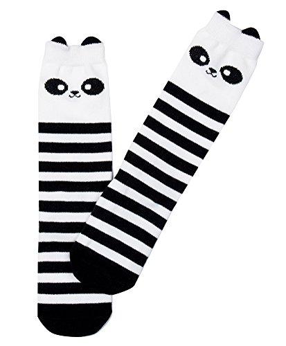 子供 ベビー 靴下 ハイソックス 可愛い 動物柄 キッズ 女の子 男の子 綿ソックス (M, パンダ)